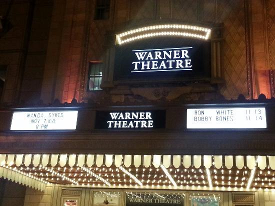 Warner Theatre: View from Chef Geoff's Restaurant