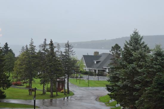 View of Inverary Resort grounds from dining room