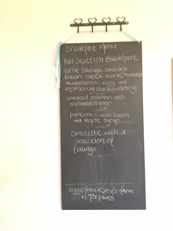 Furain Guest House : Breakfast menu