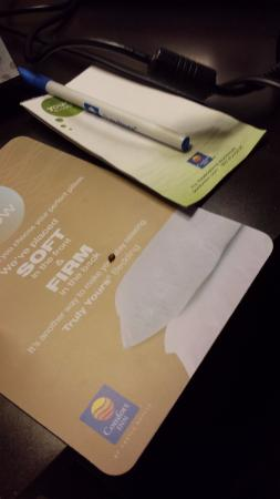 Quality Inn & Suites Lenexa Kansas City: Bedbug on the card the hotel left on the beds