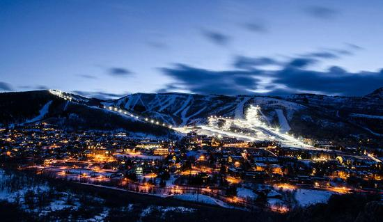 Town of Park City at Night