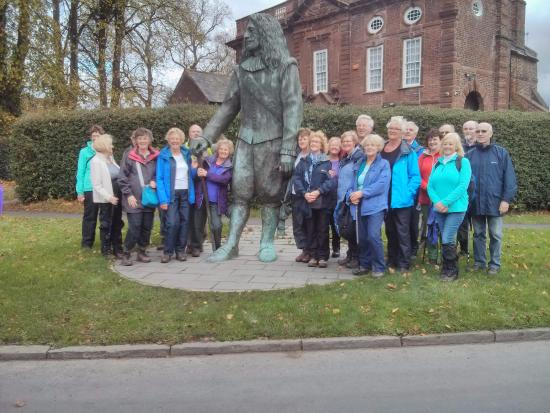 Our Walking Group, in the village just prior to eating at the Childe of Hale