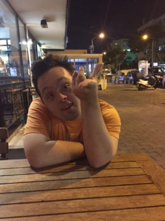 Nini Hachi: Sitting outside on a nice night