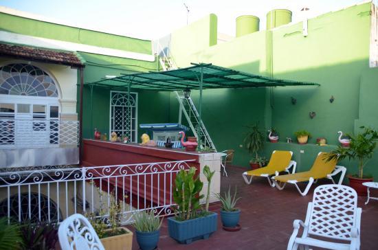 Hostal Alma: La terrasse
