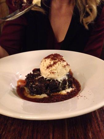 Winkfield, UK: One fine sticky toffee pudding.