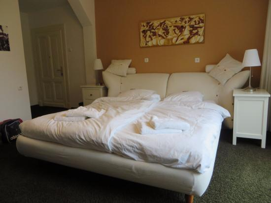Villa Wambacherbos : Kamer 1, mooi groot bed