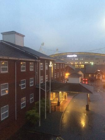 Premier Inn Bolton (Stadium/Arena) Hotel: Room with a view, well car park
