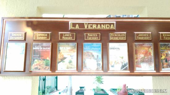 La Veranda: The Daily Specials