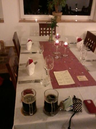 Snezne, República Tcheca: table for our dinner