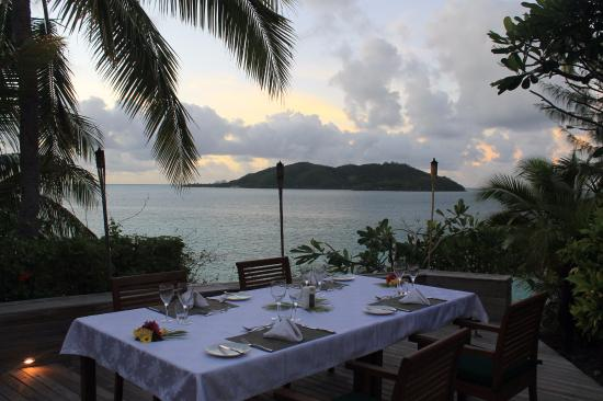Wadigi Island, Fiji: One dinner location