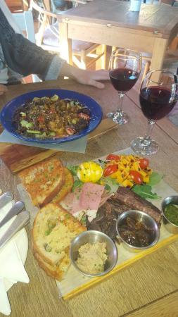 Friendly Stranger: Ploughman's Platter and Salad