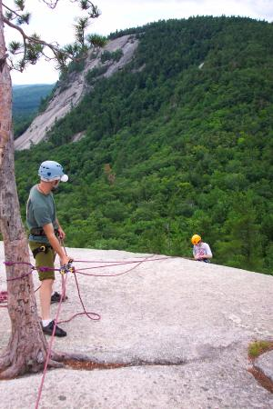 International Mountain Climbing School: Big drop, but loads of safety lines. Instructor made sure we all went well.