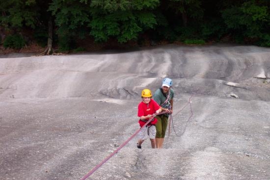 International Mountain Climbing School: My younger son felt safe to challenge his fear of heights.