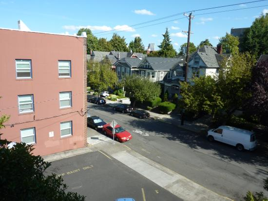 Portland International Guesthouse: View from room # 6