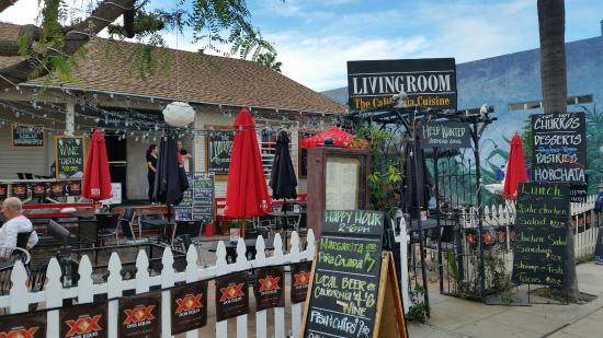 living room cafe and bistro living room patio - The Living Room San Diego