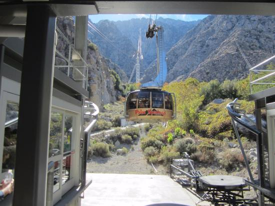 The tram at the top picture of palm springs aerial for How much does a hillside tram cost