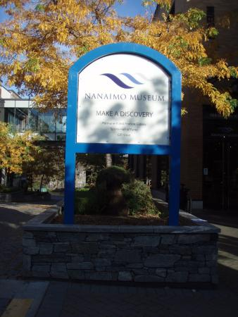 Exterior Sign for the Nanaimo Museum