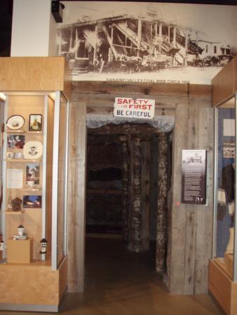 Coal Mine Year 1900 Replica at the Nanaimo Museum