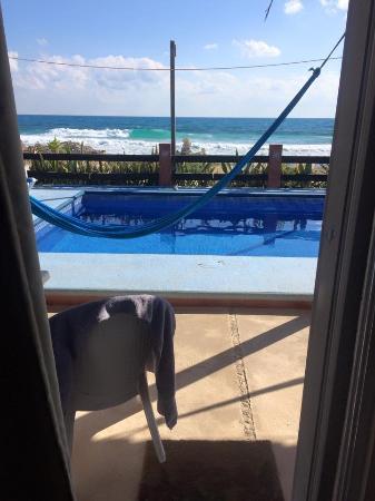 Punta Piedra: View from sliding patio door