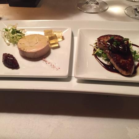 The Inn at Little Washington: Hot and Cold Foie Gras w/Sauternes Gelee and Fig Marmalade