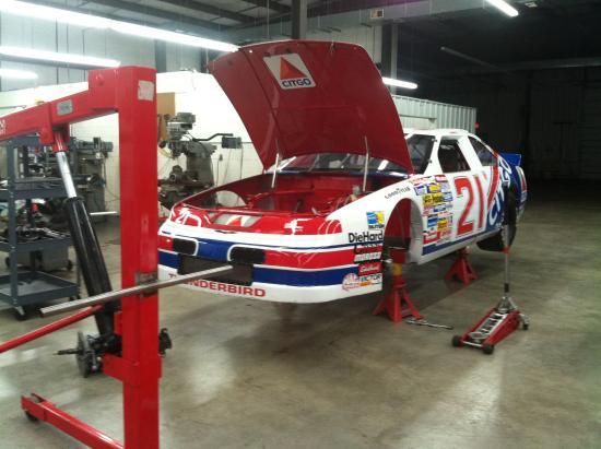 Stuart, VA: The back garage part of the racing museum