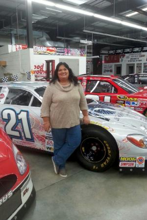 Stuart, Wirginia: The back garage part of the racing museum, Ricky Rudd is my third cousin, so I had to have a pic