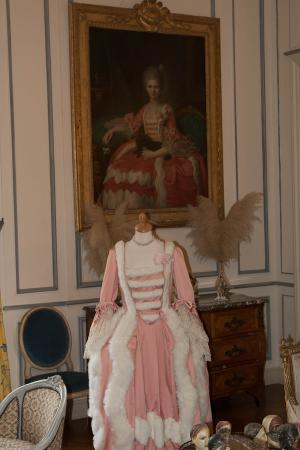 Tourville-sur-Arques, Франция: dress on display with portrait in Background