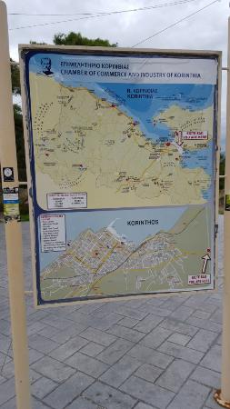 map showing location Picture of Corinth Canal Corinth TripAdvisor