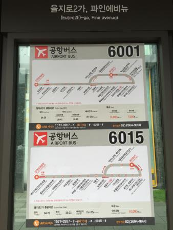 Staz Hotel Myeongdong 1 : at the Bus-stop for Airport Shuttle
