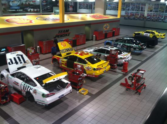 Hauler Area Picture Of Penske Racing South Facility Mooresville