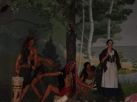 One Of The Vignettes Where The Young Girls Met In The Woods Picture Of Witch History Museum Salem Tripadvisor
