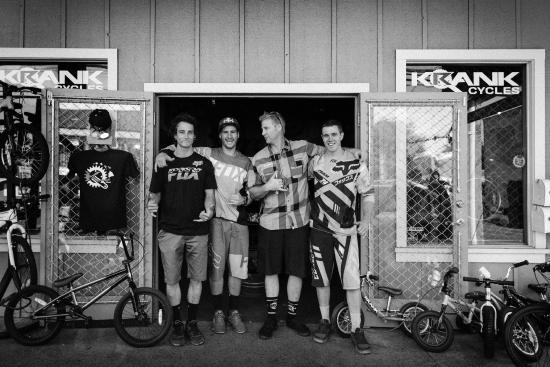 Krank Cycles : The boyz at Krank..Stevie Smith, Connor Fearon, Mark Wallace..Fox Head Racing