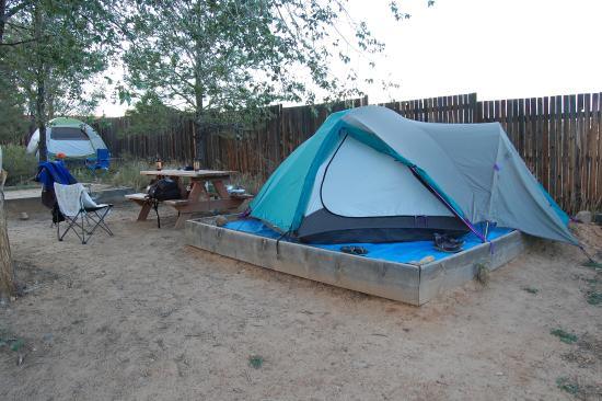 Escalante Outfitters, Inc -- The Bunkhouse: raised tent site