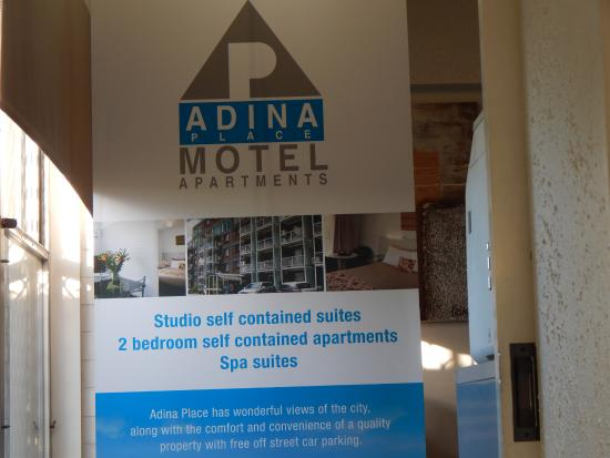 Adina Place City View Apartments : Entrance