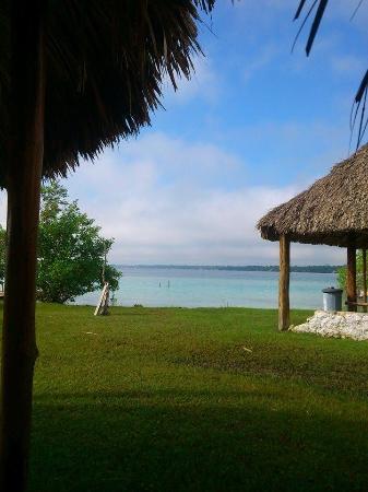Ecocamping Yaxche: Desayunando y con esta vista que mas lujo?