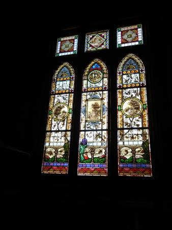 The Chaffey Trail: Stained glass window in Rio Vista house