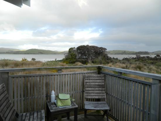 Waikava Harbour View: deck view
