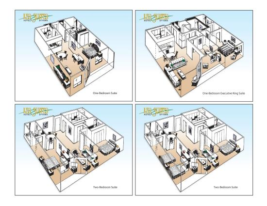 Les Suites Hotel Ottawa: All Suites - floor plans