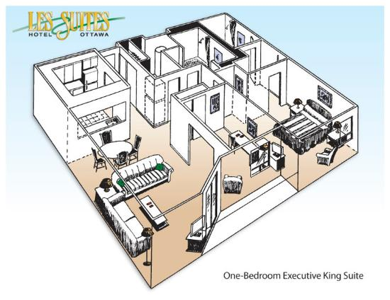 Les Suites Hotel Ottawa: Executive Suite - floor plan