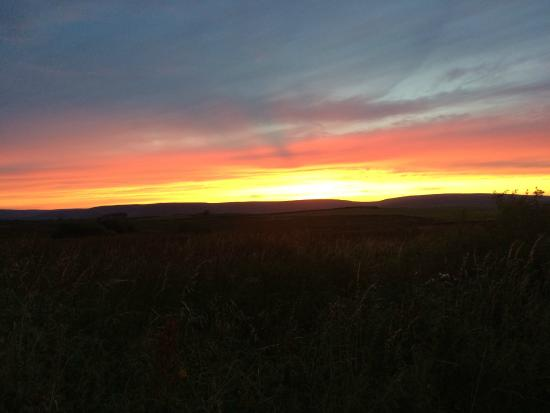 Slaidburn, UK: Sunset over the forest of Bowland