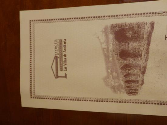 Hotel Las Villas de Antikaria: Room Service Booklet