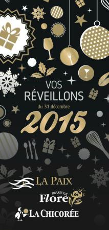 Brasserie de La Paix : Fêtes de fin d'année 2015