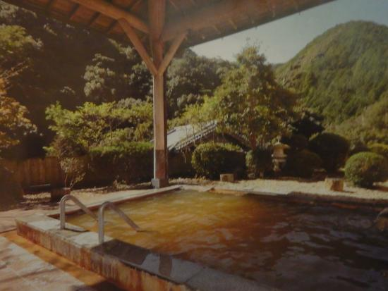 Choei Tsurunoyu Onsen: 開放的な露店風呂風景