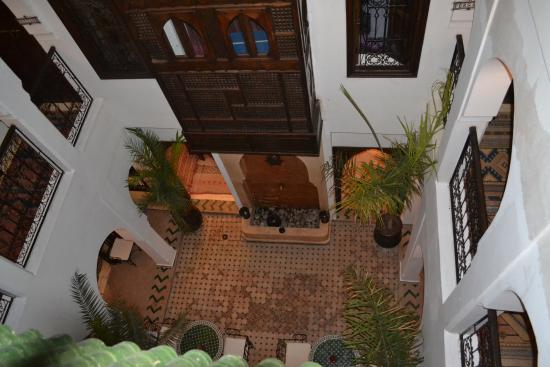 Riad Nerja: inside view from roof terrace