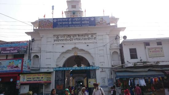 Paonta Sahib, Indien: View of Gurudwara from out side