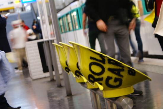 Paris, Prancis: RG themed metro station