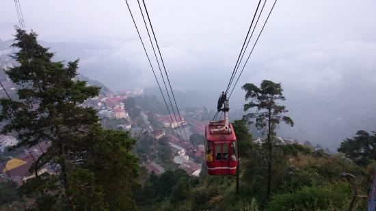 Cable car to Gun Hill Top