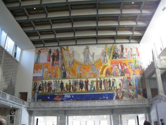 Affresco Sala Fumatori : Oslo affreschi sala nobel per la pace foto di oslo valli