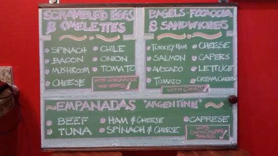 Bamboo Cafe & Smoothies: menu board with additions