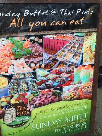 Thai Pinto restaurant: menu